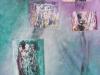 Collagestücke aus Monotypien: Mysterie