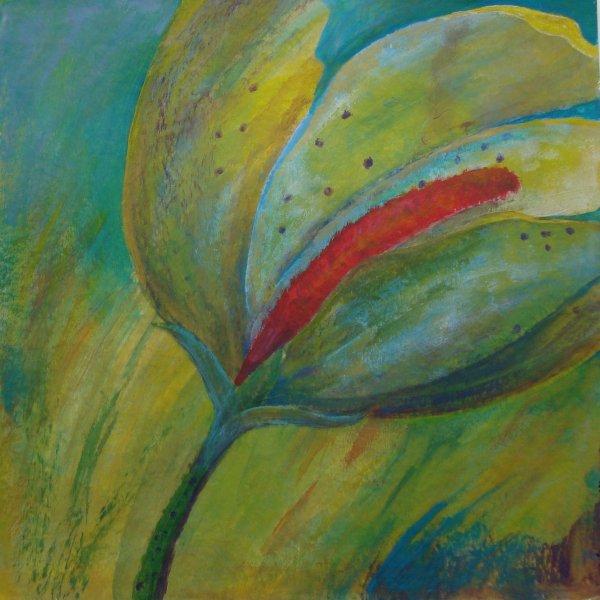 Blume im Wind