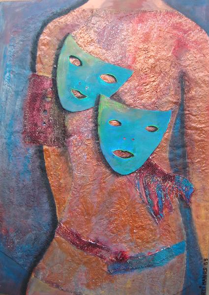 Masken auf Torso