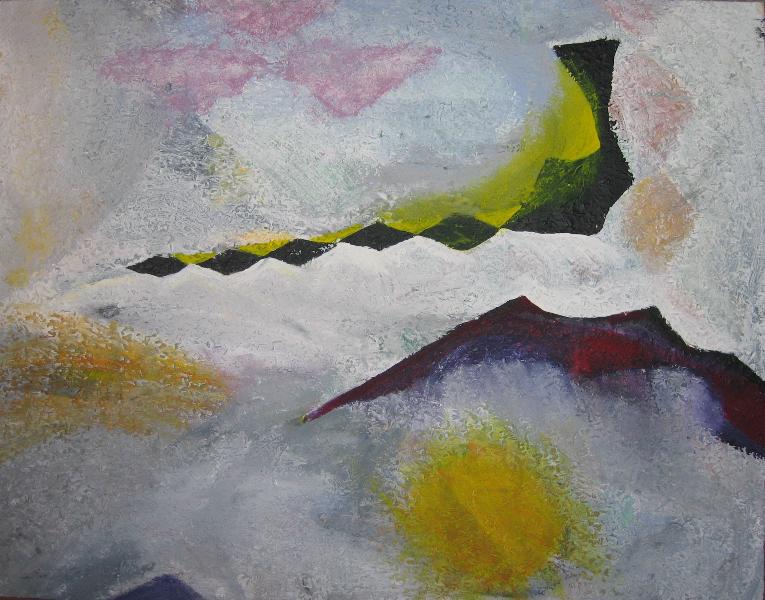 Komposition mit farbigem Bildmaterial: Schlucht